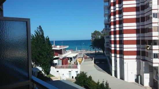 Hotel Trinimar: Vistas del mar desde la habitación
