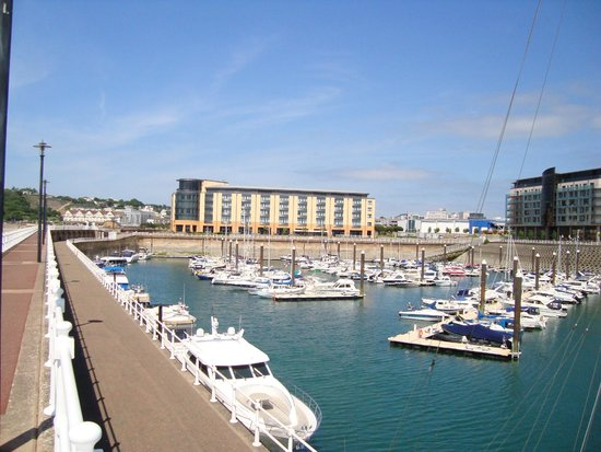 Radisson Blu Waterfront Hotel, Jersey: view from the marina