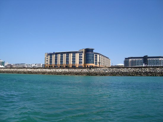 Radisson Blu Waterfront Hotel, Jersey: view from the sea