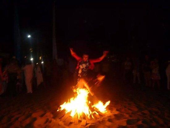 Estrella del Mar Beach Club: jumping the bonfire at San Juan 2014