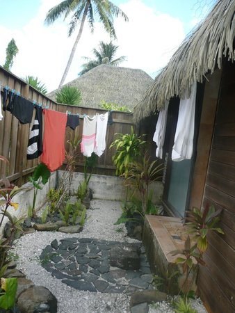 Relais Mahana : Jardinet  Bungalow Deluxe Jardin