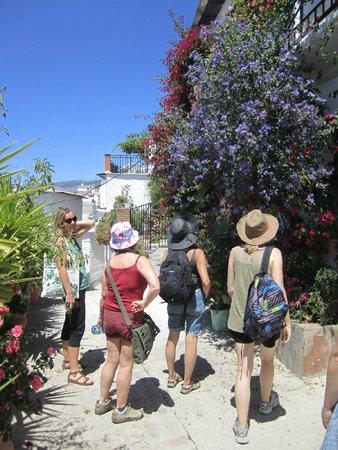 Casa Rural Las Chimeneas: Admiring the village flora