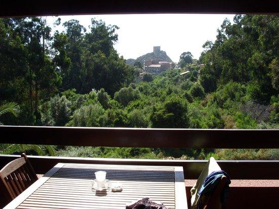 Hotel Corsica: vue du blacon sur la vallée et la marine de porto