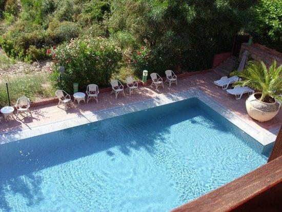 Hôtel Corsica : piscine de l'hotel vue de notre chambre