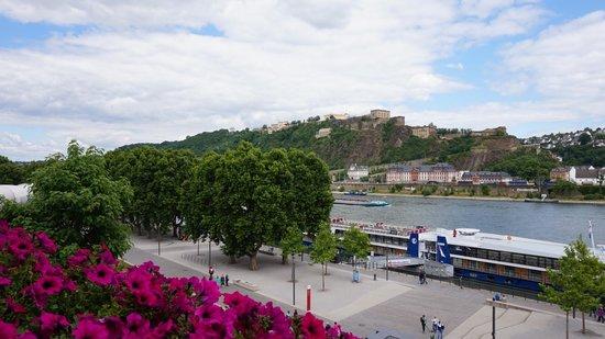 Hotel Haus Morjan: Вид с балкона