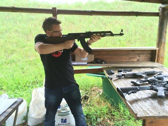 Prague Tours Direct Shooting Trips: AK-47, super loud and powerful