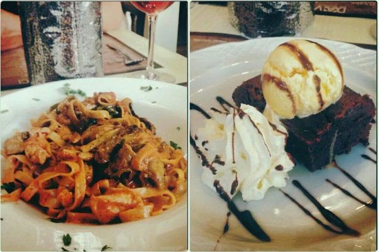 Da Vinci Restaurant : Chicken fettuccine and chocolate brownie both amazing!