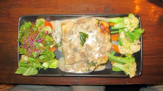 Places Restaurant & Bar: Taste Platter - Spinach Pie, Baked Potato Tortilla, Steamed Vegetable Salad