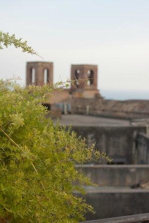 B&B Terrazze di Montelusa: Vue sur la ville de la terrasse
