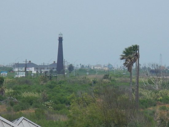 Galveston - Port Bolivar Ferry: View of island lighthouse