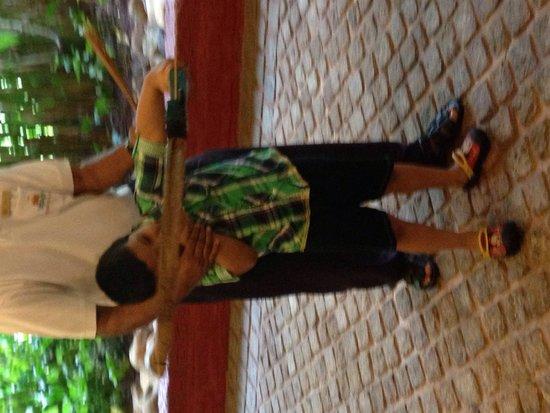 Taj Exotica Goa: Archery - best activity for us