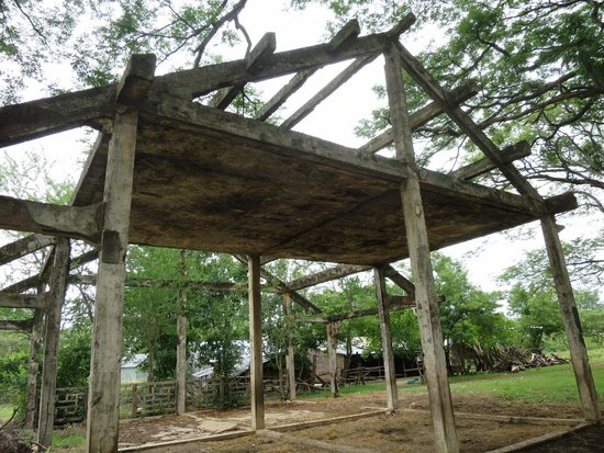 Bamboo Train: Shell of old railway station/ticket office