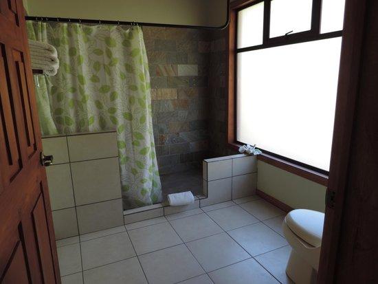 Ficus Sunset Suites Hotel : Gran baño con ducha