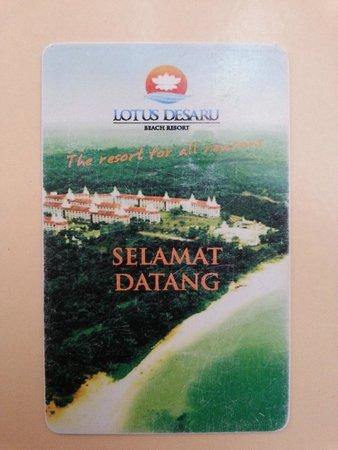 Lotus Desaru Beach Resort: Key access card