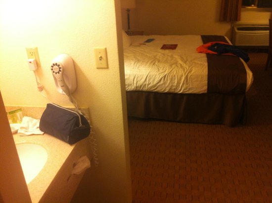 Stratosphere Hotel, Casino and Tower: WASHING AREA IN THE SAME ROOM WITH BED