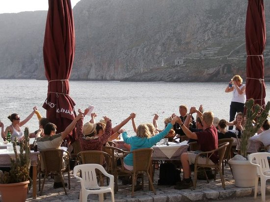 Akrotainaritis Restaurant : Gerolimenas - Akrotainaritis