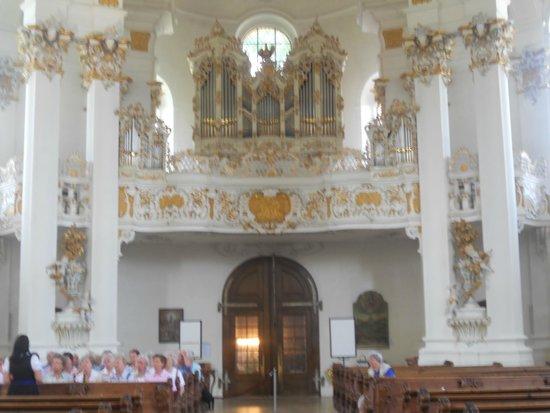 Wies church: view of choir