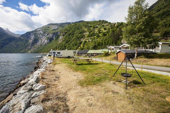Geirangerfjorden Feriesenter: Кемпинг