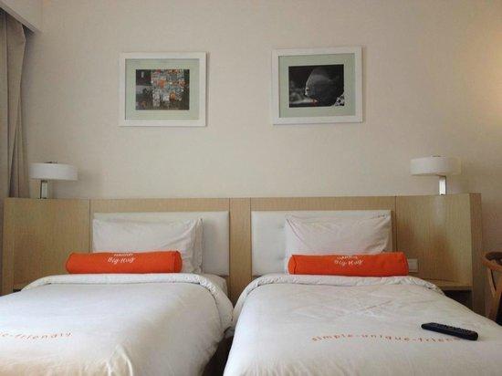 HARRIS Hotel & Conventions Malang : Kamar Twin yang nyaman