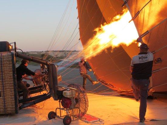 Royal Balloon - Cappadocia: Getting ready to launch
