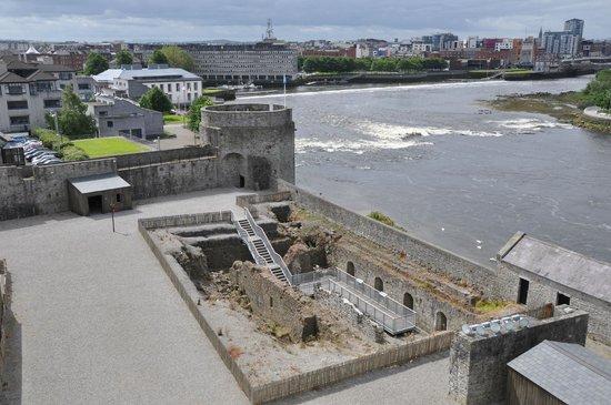 King John's Castle: shot of Shannon River shot from tower of castle