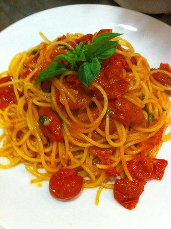 Peccati di Gola: Spaghetti con pomodorini e basilico !!!:)
