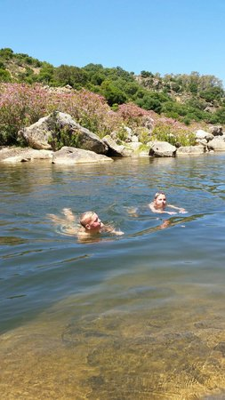 Jimena de la Frontera, Spain: River swimming