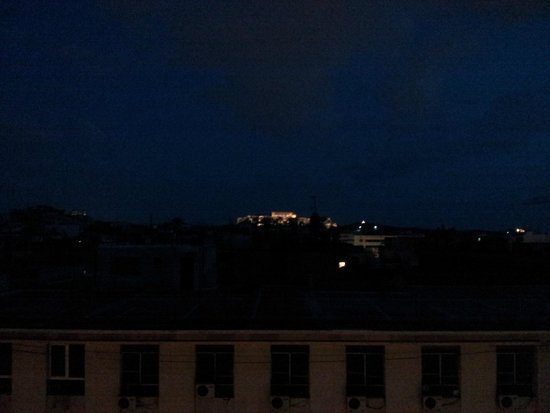 Melia Athens: View from the rooftop at night