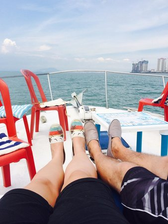Blue Whale Cruises Day Trips : Relaxing up the front