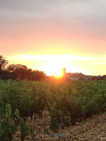 Hostellerie Chateau des Fines Roches : Most beautiful sunset during walk after dinner