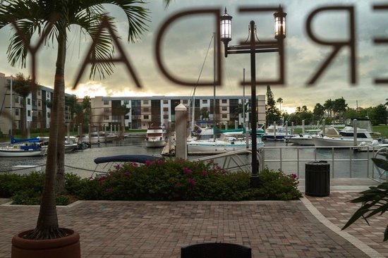 Mereday's Fine Dining: View from our table