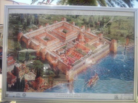 Old Split: piantina di Spalato