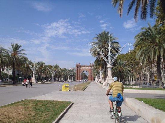 Green Bikes Barcelona : Cycling through the park