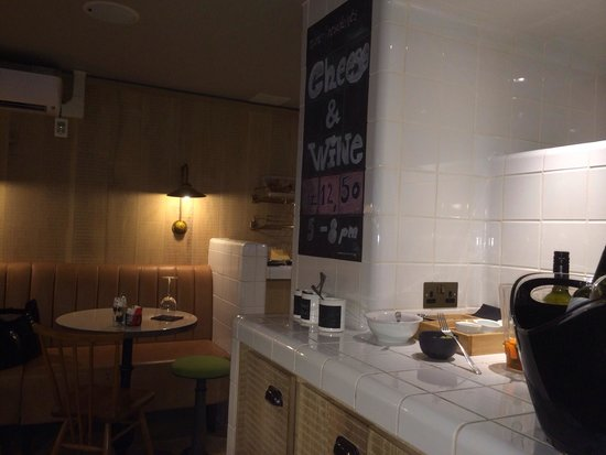 The Z Hotel Soho: The Z Hotel Cafe/ Bar - little extras it have with your free cheese and wines in the evening - d