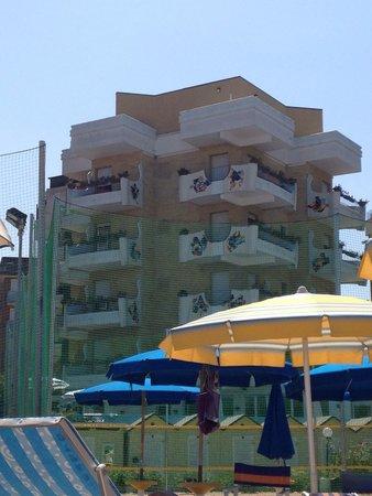 Hotel Bellevue: Vista dal mare