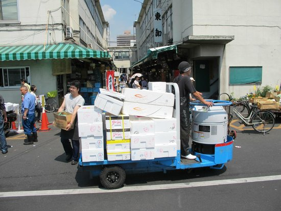 The Tsukiji Market: be on the lookout for everything