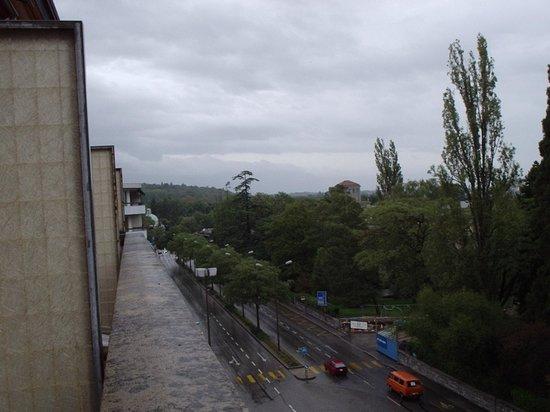 Hotel Mon-Repos : vista da janela do meu quarto hotel
