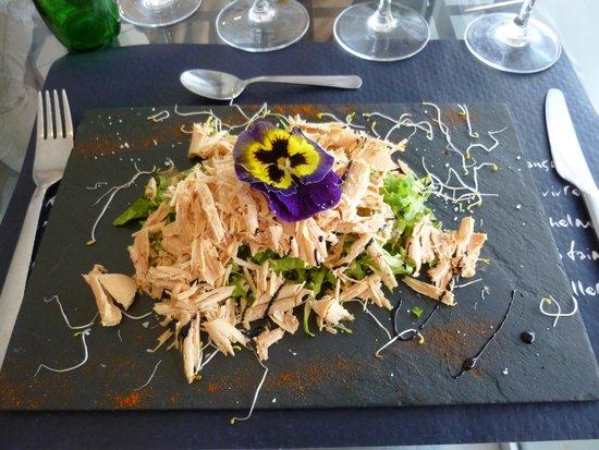 Bistrot de France : Carpaccio de foie gras au citron.