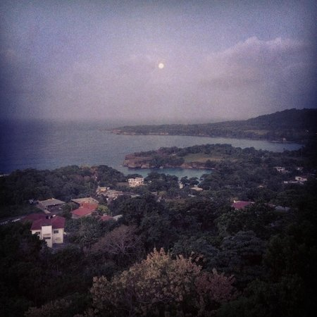 Caribbean Dawn: Full Moon - From Balcony (iPhone didn't quite get it...)