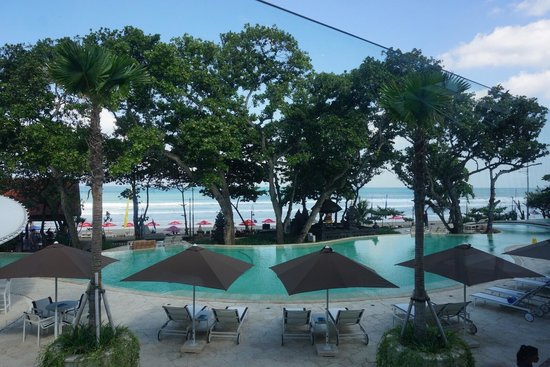 Double-Six Luxury Hotel Seminyak: View from breakfast