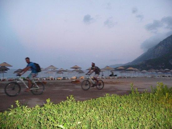 Cirali Orange Motel: the sandy road/trail along the beach.