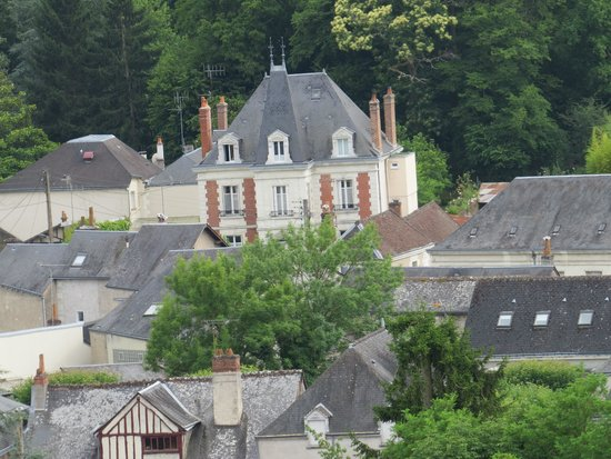 Manoir du Parc: view of house from castle (zoomed in)