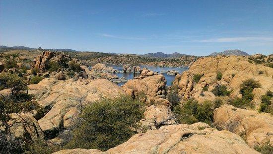 The spectacular rock formations at Watson Lake, Prescott, AZ