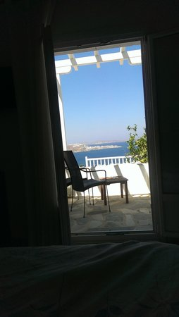 Alkyon Hotel: a view to wake upto, view from my pillow