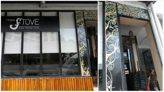 Tribal Stove: The restaurant's facade..