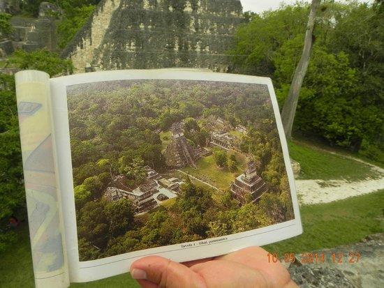 Cocktail Tours Guatemala: cartina con vista dall'alto del sito di Tikal