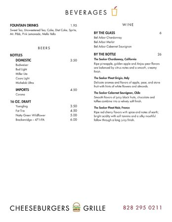 Cheeseburgers Grille: Our Menu - Page 3