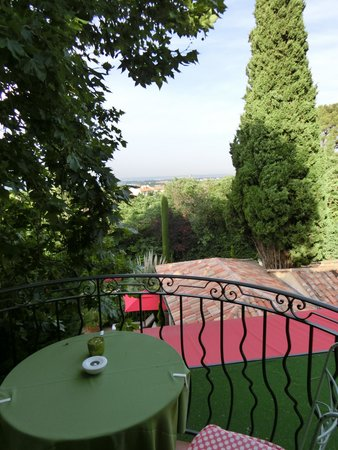 Villa Gallici: View from the small terrace
