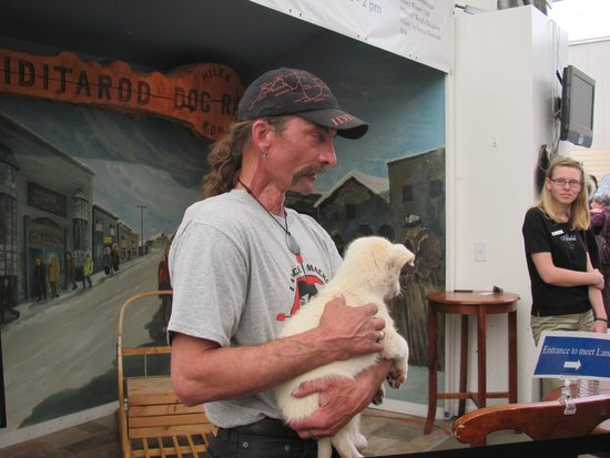 Riverboat Discovery : 4x Iditarod champion Lance Mackey and future lead dog.