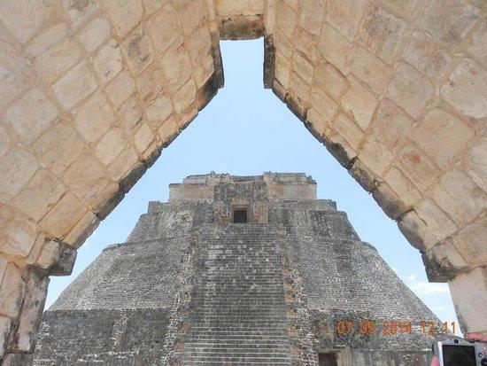 Zona Arqueologica Uxmal: punto di vista dell'architettura di Uxmal